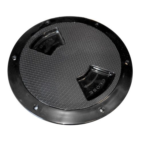 "Sea-Dog Quarter-Turn Textured Deck Plate w\/Internal Collar - Black - 8"" [336387-1]"