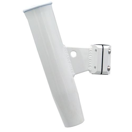 "C.E. Smith Aluminum Vertical Clamp-On Rod Holder 1-5\/16"" OD White Powdercoat w\/Sleeve [53716]"
