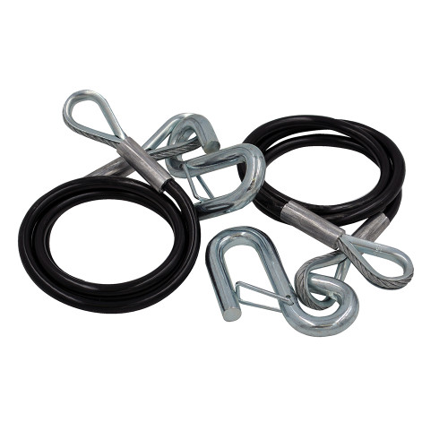 C.E. Smith Safety Cables - 5000lb Capacity - PVC Coated - Pair [16672A]