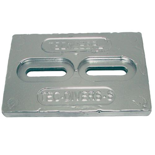 """Tecnoseal Mini Zinc Plate Anode 6"""" x 4"""" x 1\/2"""" [TEC-DIVERS-S]"""