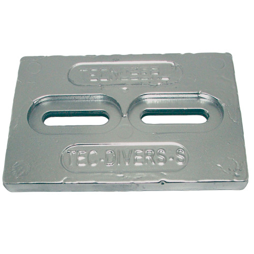 "Tecnoseal Mini Magnesium Plate Anode 6"" x 4"" x 1\/2"" [TEC-DIVERS-SMG]"