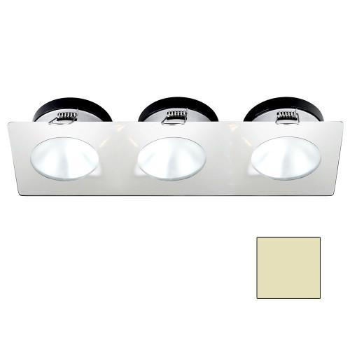 i2Systems Apeiron A1110Z - 4.5W Spring Mount Light - Triple Round - Warm White - White Finish [A1110Z-36CAB]