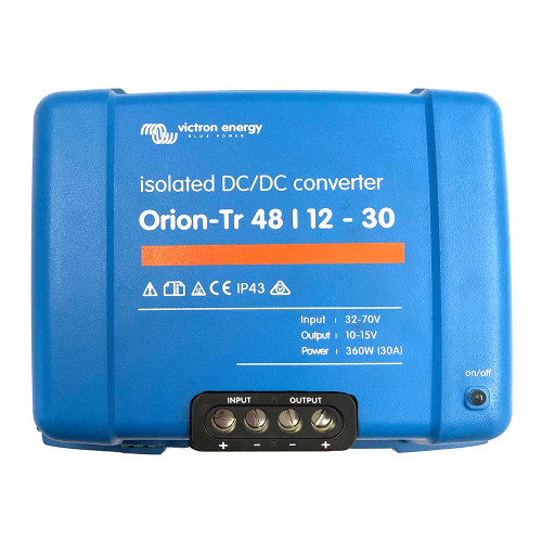 Victron Orion-TR DC-DC Converter - 48 VDC to 12 VDC - 30AMP Isolated [ORI481240110]