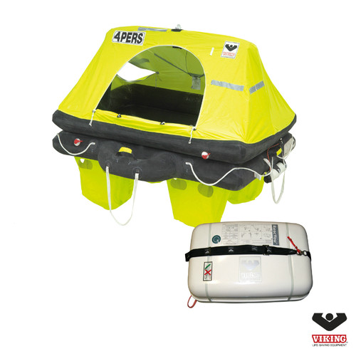 Viking 4 Person Offshore RescYou Liferaft Container Pack