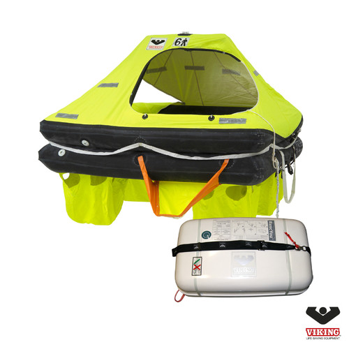 Viking 6 Person Coastal RescYou  Liferaft Container