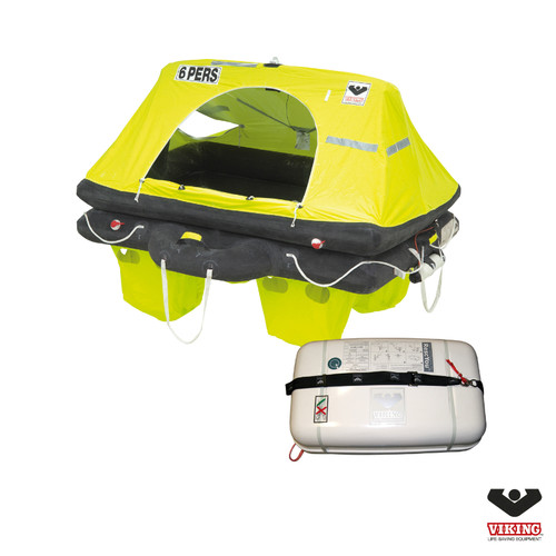 Viking 6 Person Offshore RescYou Liferaft Container Pack