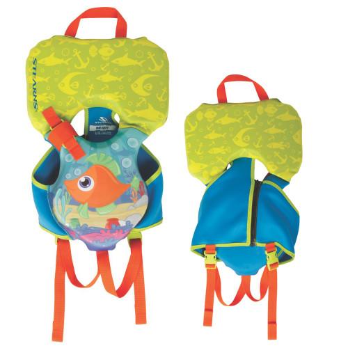 Puddle Jumper Infant Hydroprene Life Vest - Orang\/Green\/Blue Fish - Under 30lbs [2000038439]