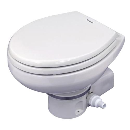 Dometic MasterFlush 7160 White Electric Macerating Toilet w\/Orbit Base - 24V - Raw Water [9108832318]