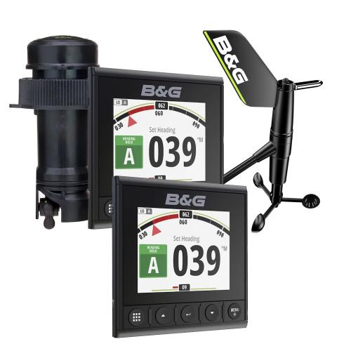 "BG Triton2 Speed, Depth  Wireless Wind System Pack - 2 Triton² 4.1"" Color Display, DST810 Transducer, WS320 Wireless Wind Sensor  NMEA2000 Starter Kit [000-14957-002]"