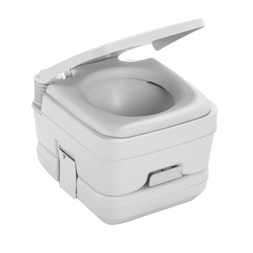 Dometic 964 MSD Portable Toilet w\/Mounting Brackets - 2.5 Gallon - Platinum [311196406]