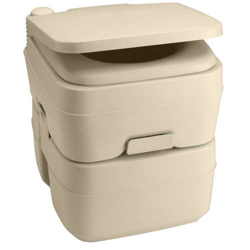Dometic 965 Portable Toilet w\/Mounting Brackets- 5 Gallon - Parchment [311096502]