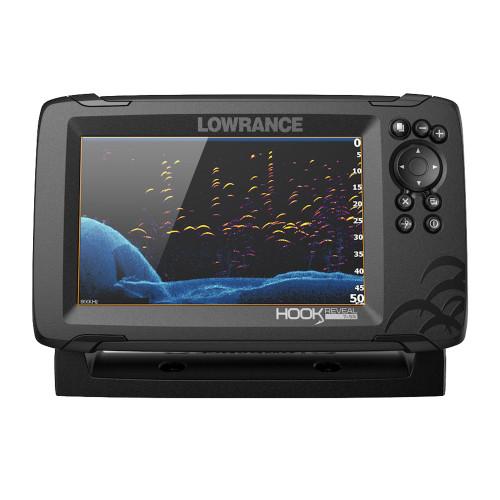 Lowrance HOOK Reveal 7x Fishfinder w\/SplitShot Transom Mount Transducer [000-15514-001]