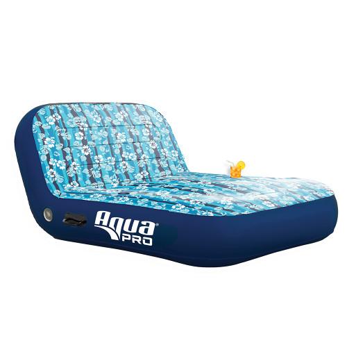 Aqua Leisure Ultra Cushioned Comfort Lounge Hawaiian Wave Print - 2-Person [APL17011S2]