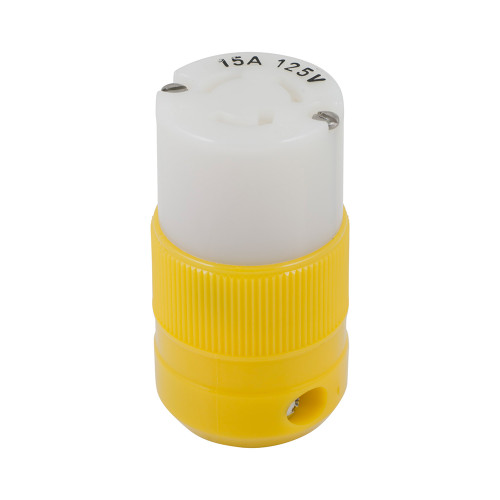 Marinco Locking Connector - 15A, 125V - Yellow [4731CR]