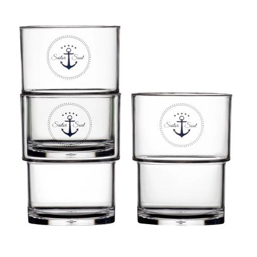 Marine Business Stackable Glass Set - SAILOR SOUL - Set of 12 [14103C]