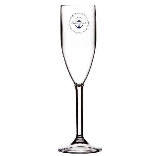 Marine Business Champagne Glass Set - SAILOR SOUL - Set of 6 [14105C]