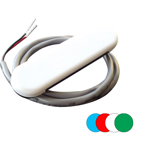 Shadow-Caster Courtesy Light w\/2' Lead Wire - White ABS Cover - RGB Multi-Color - 4-Pack [SCM-CL-RGB-4PACK]