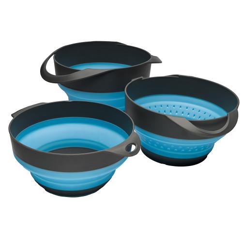 S.O.L. Survive Outdoors Longer Flat Pack Bowls  Strainer Set [0140-1006]