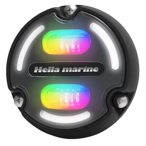 Hella Marine A2 RGB Underwater Light - 3000 Lumens - Black Housing - Charcoal Lens w\/Edge Light [016148-001]