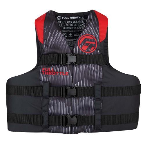 Full Throttle Adult Nylon Life Jacket - 4XL\/7XL - Red\/Black [112200-100-110-22]