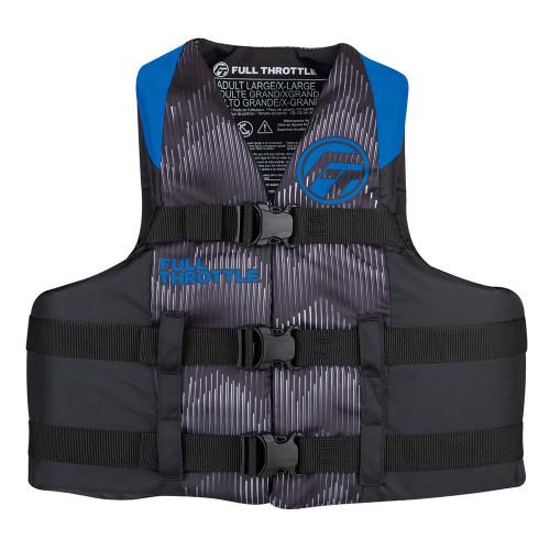 Full Throttle Adult Nylon Life Jacket - 2XL\/4XL - Blue\/Black [112200-500-080-22]