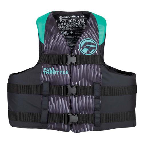 Full Throttle Adult Nylon Life Jacket - S\/M - Aqua\/Black [112200-505-030-22]