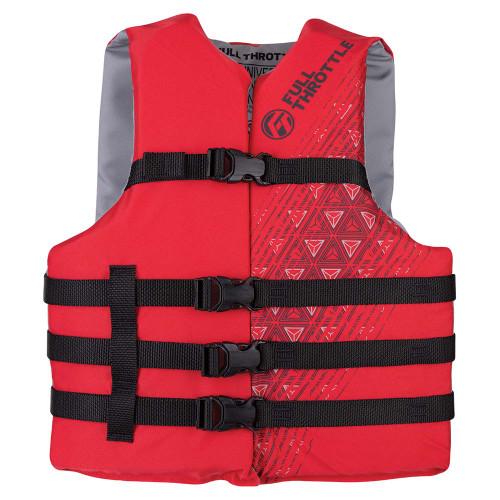 Full Throttle Adult Oversized Ski Life Jacket - Red [112000-100-005-22]