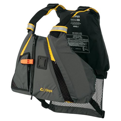Onyx Movement Dynamic Paddle Sports Vest - Yellow\/Grey - Medium\/Large [122200-300-040-18]