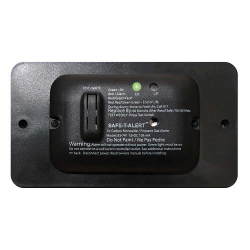 Safe-T-Alert 85 Series Carbon Monoxide Propane Gas Alarm - 12V - Black [85-741-BL]