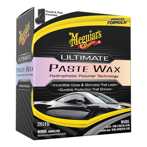 Meguiars Ultimate Paste Wax - Long-Lasting, Easy to Use Synthetic Wax - 11oz [G210608]