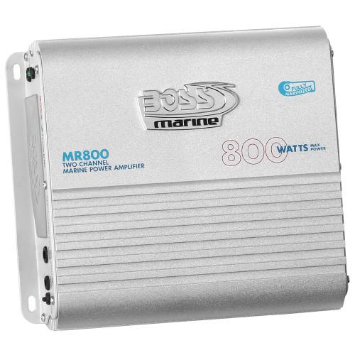 Boss Audio MR800 Marine Power Amplifier 2-Channel MOSFET Bridgeable [MR800]