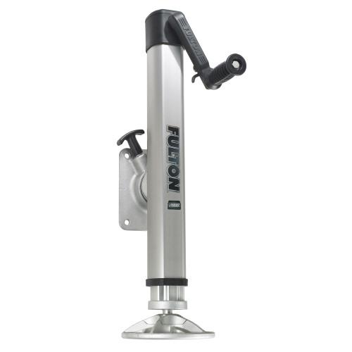 Fulton F2 Trailer Jack Bolt-On 2,000 lbs. Lift Capacity Adjustable Swivel w\/Footplate [1413230134]