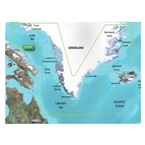 Garmin BlueChart g3 Vision HD - VEU064R - Greenland - microSD\/SD [010-C1001-00]