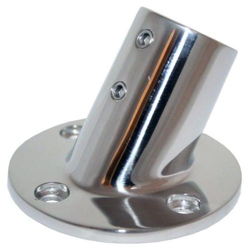 "Whitecap "" O.D. 60 Degree Round Base SS Rail Fitting [6040C]"