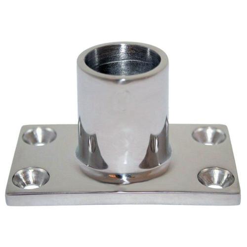 """Whitecap """" O.D. 90 Degree Rectangle Base SS Rail Fitting [6041C]"""