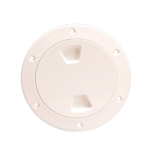 "Beckson 4"" Smooth Center Screw-Out Deck Plate - Beige [DP40-N]"