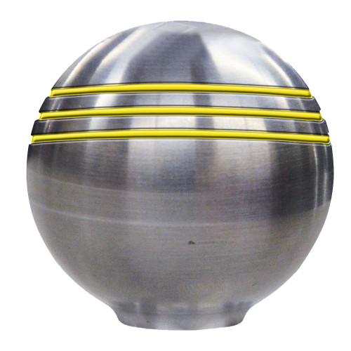 "Schmitt  Ongaro Throttle Knob - 1-⅞"" - Gold Grooves [50048]"
