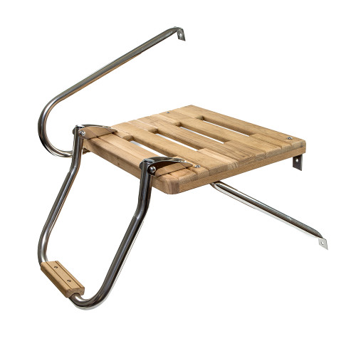 Whitecap Teak Swim Platform w\/Ladder f\/Outboard Motors [60902]