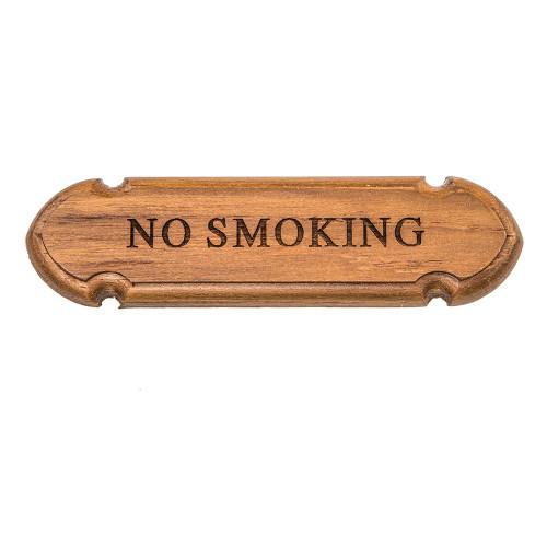 """Whitecap Teak """"No Smoking"""" Name Plate [62672]"""