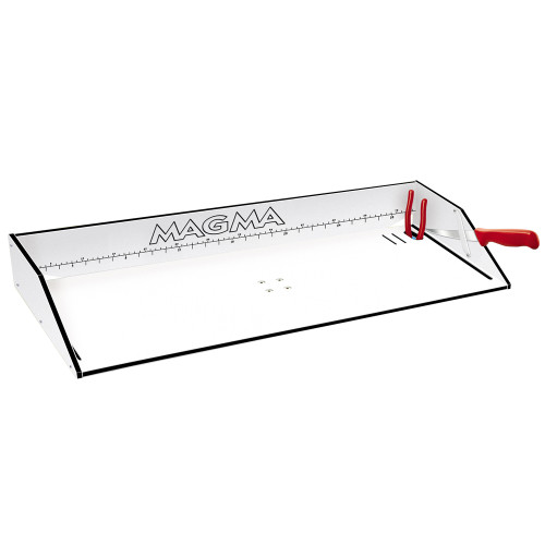 "Magma Bait\/Filet Mate Serving\/Cutting Table - 31"" - White\/Black [T10-303B]"