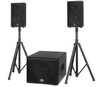 "B-52 MATRIX-1500 BBE 1200w  Three Piece Active System - 15"" Subw oofer + 2 x 10"" Tw o-w ay With BBE Sonic Maximizer"