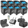 (8) Chauvet Freedom Par Tri-6 & FlareCON Air Package