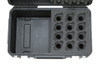 SKB 3i-2011-MC12 - iSeries Injection Molded case w/foam for (12) Mics w/storage compartment
