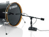 Gator Cases GFW-MIC-0822 - Telescoping Boom Mic Stand Podcasting & Bass Drum