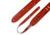 "Levy's Leathers M12GSC-WAL - 2"" Wide Walnut Chrome-tan Leather Guitar Strap"