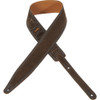"""Levy's Leathers MS317EMP-SLA -  2 1/2"""" Wide Slate Suede Guitar Strap."""