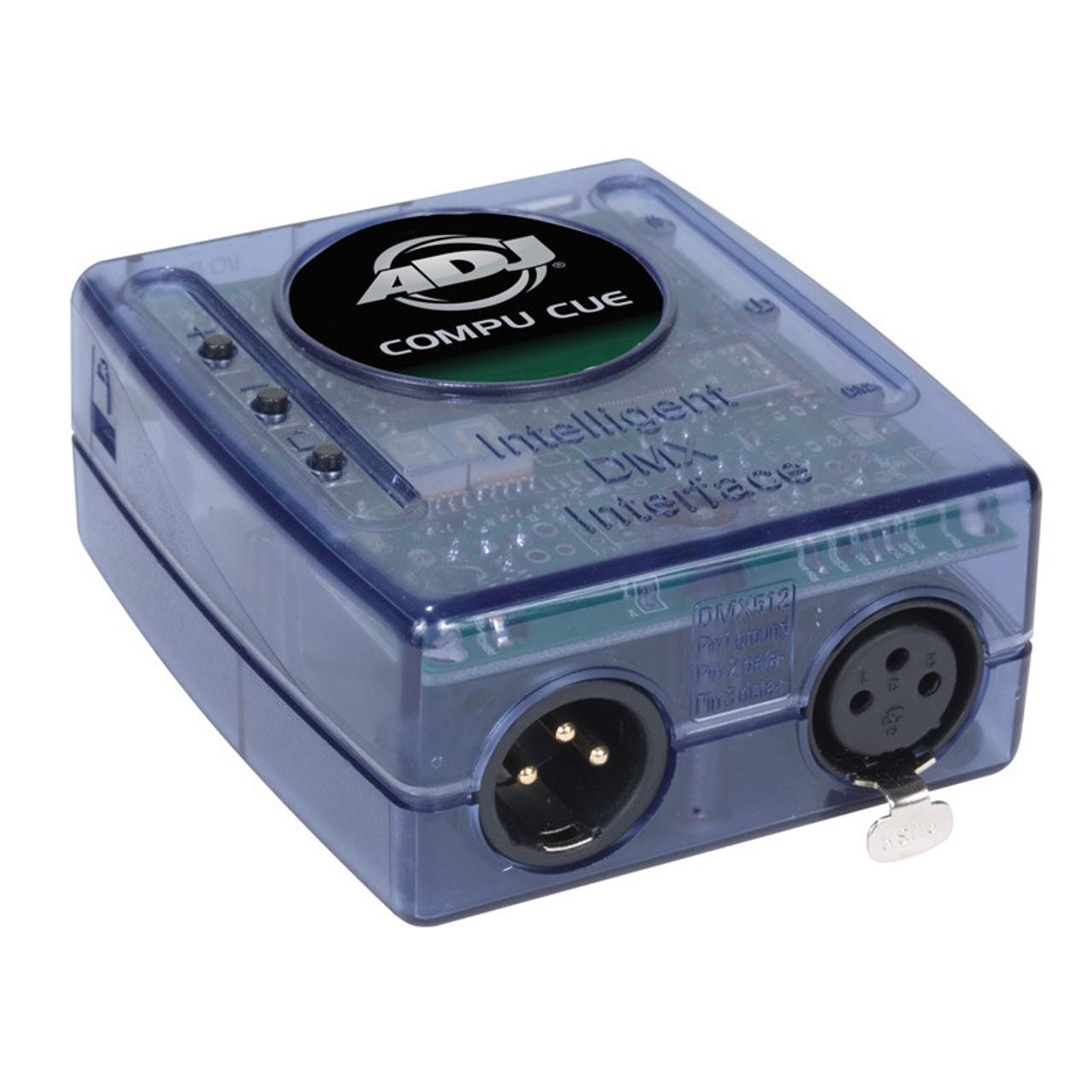 American DJ COM523 - COMPU CUE 32/64 bit DMX interface  PC DMX Control  Software with 2 universes of DMX control plus 2 universes of Art-Net control