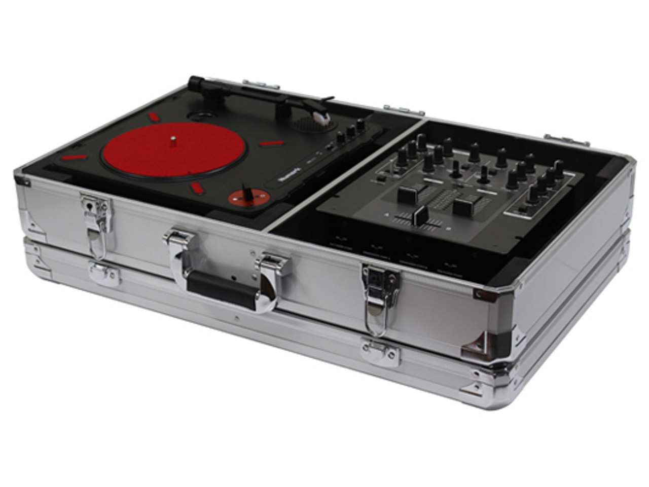 ODYSSEY KPT01SCSIL KROM™ NUMARK PT01 SCRATCH TURNTABLE CASE WITH SIDE  COMPARTMENT, SILVER