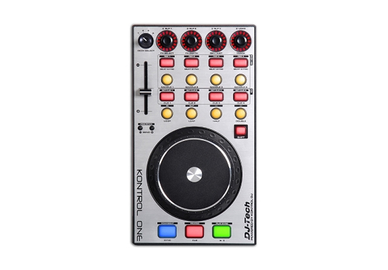 DJ Tech Kontrol One Professional DJ Controller with Touch Sensitive Jog  Wheel