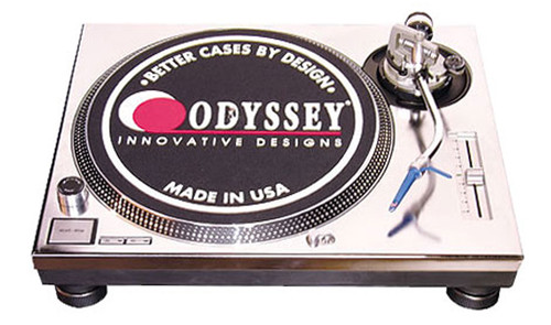 Odyssey AFPSL1200SIL Custom Faceplate for Technics SL1200 Turntable (Silver)